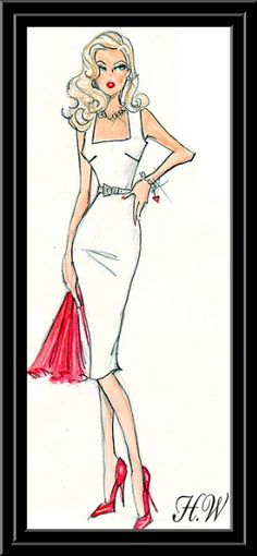"""Beatitude-Simplement"" (August 2011) Artwork by British fashion illustrator & designer Hayden Williams: ""Conquering the world one fashion sketch at a time."""