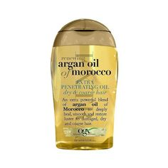 OGX Extra Strength Moroccan Argan Oil Penetrating Hair Oil - . oz featuring polyvore, beauty products, haircare, styling products, organix hair care and organix