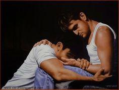 """Embrace"" by Steve Walker Jeff Buckley, Canadian Painters, Canadian Artists, Moving To Toronto, Walker Art, Lgbt Love, Journey, Art For Art Sake, Gay Art"