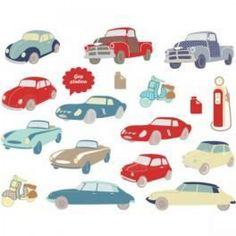 Retrouvez Art for kids Stickers voitures rétro avec Shoppinity
