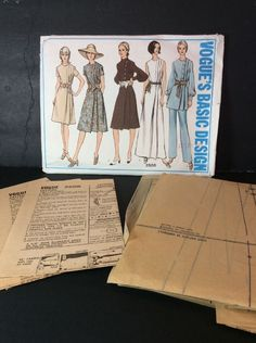 Vogue Sewing Pattern 2506 14 Vtg 60s Dress Tunic Pants Loose Fit 3 Lengths  | eBay