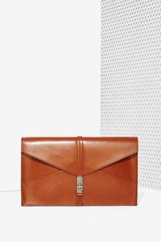 Kelsi Dagger Envelope Leather Clutch
