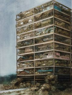 Highrise of Homes. Designed by James Wines (SITE... - MEGAESTRUCTURAS