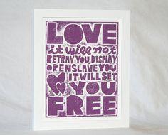 11x14 Valentines Day Music Lyric Poster Love by rawartletterpress, $27.00