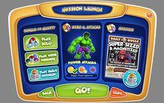 super hero squad online menu - Google Search
