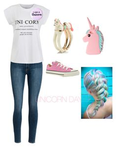 """""""UNICORN DAY"""" by crazygiggles ❤ liked on Polyvore featuring Ally Fashion, Kate Spade, Missguided and Converse"""