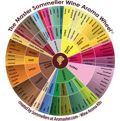 Wine Aroma Wheels for wine tasting