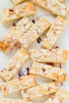 Almond Butter Sticks -Almond Butter Sticks are a melt-in-your-mouth delicious, tender cookie made with a cream cheese dough and an almond extract sugar filling