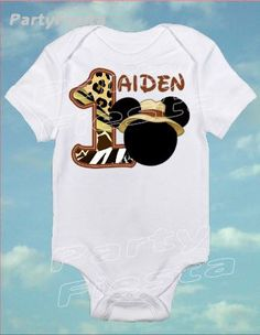 Inspired Mickey Mouse Safari wild Jungle  Tshirt by PartyFiesta