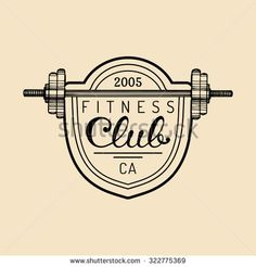 Vector fitness logo.Hand sketched fitness logotype. Fitness gym logo. Fitness center sign