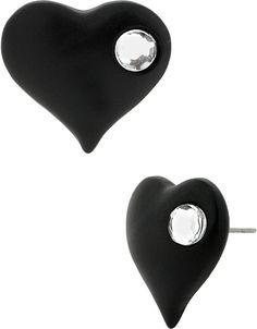 Black Hearts Studs