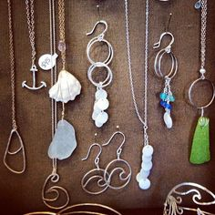 Cape Cod Ocean Wave inspired jewelry. seaglass, shells..oh my!