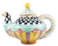 Mackenzie-Childs Teapot  -  I love anything and everything by Mackenzie-Childs!  So whimsical!!