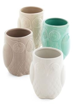 Owl Mugs !? I need all of these.. X4