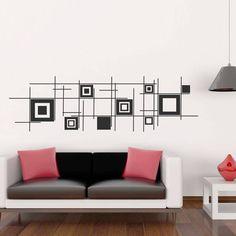 Adesivos de Parede Quadrados Abstratos - Modelo Exclusivo | BemColar