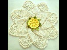 Pap - Trilho/ caminho camélia em flor -croche - YouTube