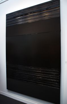 Pierre Soulages Tachisme, Texture Art, Texture Painting, Art Installation, Black And White Painting, Diy Canvas Art, Minimalist Art, Abstract Wall Art, Art Boards
