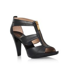 Berkley T Strap Black High Heel Sandals from Michael Michael Kors