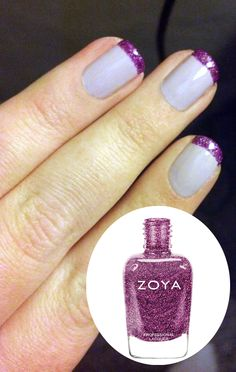 Zoya Nail Polish in Kendal with sugarplum tips in Zoya Aurora!  |   Zoya Professional Nail Lacquer are Toxin Free and ultra long wearing. Visit my nails pinterest over 10,000 pins @Maria Sousa #nailpolish #OPI #Butter #Narns #Dior #Evie #Essie