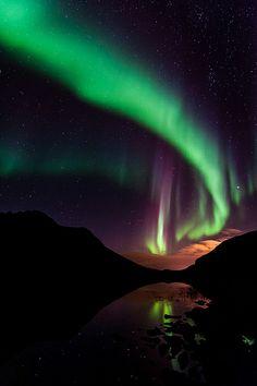 Aurora borealis - Kattfjordeidet Tromsø Norway I want so badly to see the Aurora Borealis. As of now I can only imagine and live through photos. Tromso, Cosmos, Northen Lights, Natural Phenomena, Beautiful Sky, Amazing Nature, Belle Photo, Night Skies, Mother Nature