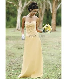 Pretty bridesmaid dress if I decide to do the pale yellow...