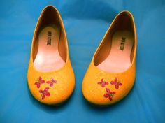 MLP Fluttershy Glitter Shoes I want them I will try to make them