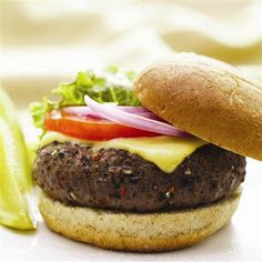 Easy All-American Burgers: McCormick All-American Burger Seasoning Mix helps you make a perfectly seasoned burger every time!