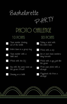 INSTANT DOWNLOAD / PDF: Bachelorette Party Game- Photo Challenge THIS IS A DIGITAL FILE ONLY which you can download and print yourself