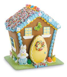 Easter Bunny Gingerbread Hutch kit!  What a great idea!  My daughter would love this!