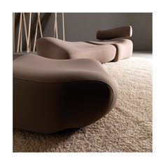 Modular relaxing polyurethane armchair MORFO Collection by Esedra by Prospettive | design Fabrizio Batoni