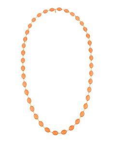 Coral Oval Necklace #greenbeads