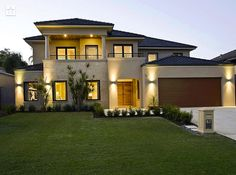 My dream home Unique House Plans, Dream House Plans, Design Your Own Home, Modern House Design, Style At Home, Huge Houses, Mediterranean House Plans, American Houses, Dream House Exterior