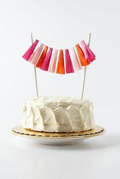 Colorful Cake Tassels