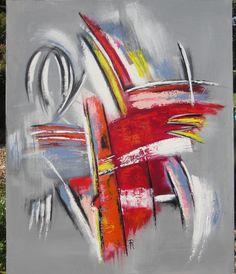 Tableau peinture abstrait : AGITATEUR DE COULEURS : Peintures par sylvie-creation