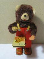 Vintage Tin Wind Up Mechanical Bear Made in Japan As Is Parts  T*