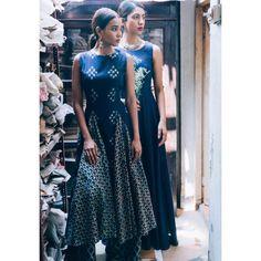 Label anushree Handmade with Love -- Indigos from our summer line | Maxi & Separates | ✨ #printonprint #indiantextile #labelanushree #summer