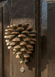 Pine Cone Knocker - South Carolina by doddsjzi Door Knockers Unique, Door Knobs And Knockers, Knobs And Handles, Door Handles, Cool Doors, Unique Doors, Lion Door Knocker, Door Detail, Door Accessories
