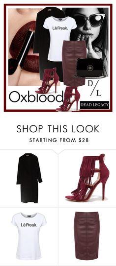 """Dead Legacy: Oxblood"" by dead-legacy ❤ liked on Polyvore featuring Calvin Klein, Wild Diva, Dead Legacy, Karen Millen, Chanel, oxblood, Tshirt, deadlegacy, marsala and woolcoat"