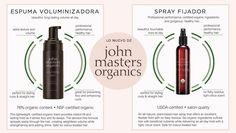 Nueva espuma y nuevo spray fijador John Masters Organics