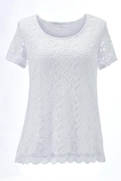 2dab44c4387 Stretch Lace Top  Classic Women s Clothing from  ChadwicksofBoston  16.99 -   31.99 Classic Clothes