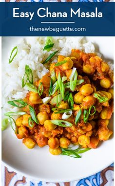 This easy chana masala (Indian-spiced stewed chickpeas) is perfect for meal prep and can be served in a variety of ways. Plus, it freezes perfectly! thenewbaguette.com #mealpreprecipes #chickpearecipes #vegandinnerideas Clean Eating Vegetarian, Vegetarian Recipes Dinner, Vegan Dinners, Healthy Meal Prep, Healthy Recipes, Delicious Recipes, Salad Recipes, Meal Prep Guide, Indian Food Recipes