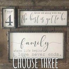 Farmhouse Signs Set,