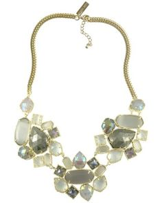 Melissa Statement Necklace in White Ice - Kendra Scott Jewelry. Available October 16, 2013.