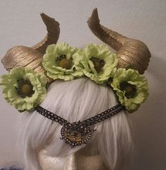 Hey, I found this really awesome Etsy listing at https://www.etsy.com/listing/261933333/horn-horn-headdress-flower-crown-floral