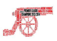 Arsenal The Gunners  word art  we can do any team. by YourOwnWords, £10.00