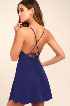 Play On Curves Royal Blue Backless Dress 10