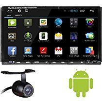 LELEC 7 Inch 2Din Android 4.2 GPS Navigation Touch Screen Bluetooth WiFi TV DVR SD/USB Car Vehicle DVD Player Radio Stereo + Waterproof Night Vision Rear View Camera