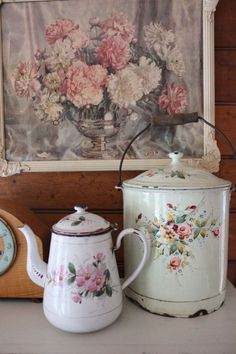 Coffee Pot & Bucket With Lid