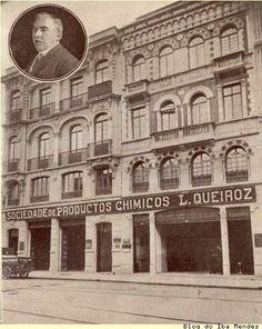 """""""Sociedade de Productos Chimicos L. Queiroz"""", situado à Rua Líbero Badaró, 138, no centro do São Paulo, em 1918"""