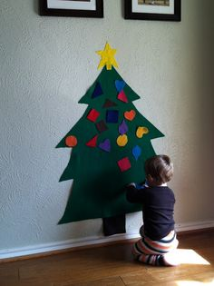 This is what I'm workig on for Leah and Brody  Felt Christmas Tree to decorate